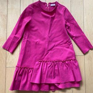Il Gufo girl dress size 4 hot pink